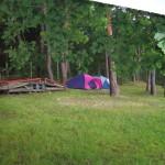 Prostor pro stanový tábor...